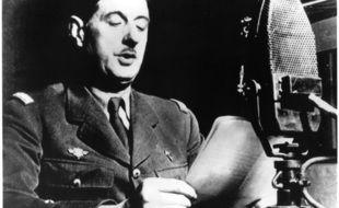 Le général de Gaulle lors de l'appel du 18 juin à Londres