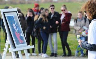 Hommage à la jeune Alexia le 16 mars 2016 à Saint-Trojan.