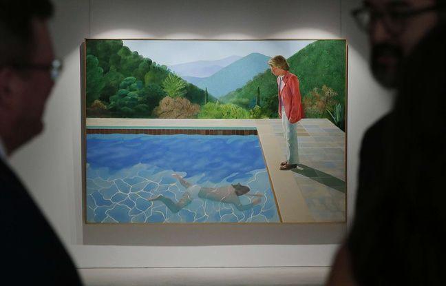 La toile du peintre britannique David Hockney, intitulée «Portrait of an Artist (Pool with two figures)»