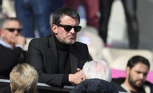 Manuel Valls, le 24 mars 2018 lors d'un match au stade Jean Bouin.