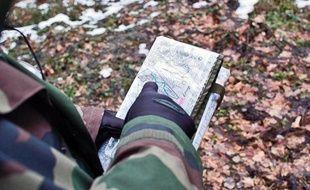 Les recherches pour retrouver la cavalière disparue dans la forêt de Rambouillet (Yvelines) se poursuivent, le 5 janvier 2011.