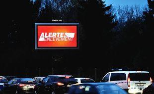 Un panneau indiquant une alerte enlèvement. (archives)