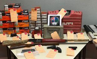 De l'armement découvert dans une tonne de chasse a été découvert