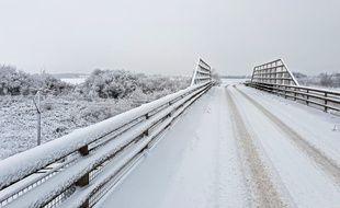 Lille, le 23 janvier 2019. Dans la nuit, il est tombé plus de 10 cm de neige sur la région des Hauts-de-France.