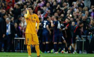 Lionel Messi lors d'Atlético-Barça le 13 avril 2016.