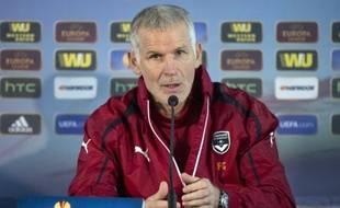 Francis Gillot, l'entraîneur des Girondins le 11 décembre 2013.