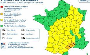 Le Gard et l'Hérault sont en vigilance orange le weekend du 12 septembre 2015, pour des risques d'orages et de fortes pluies.