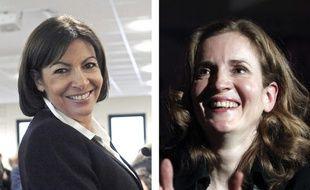 Les candidates Anne Hidalgo et Nathalie Kosciusko-Morizet pendant la campagne.