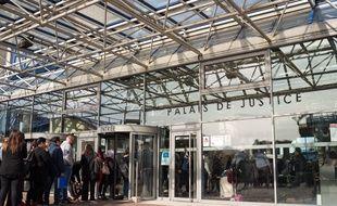 L'entrée du palais de justice de Bobigny (Seine-Saint-Denis).(Illustration.)