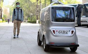 L'Institut de technologie de Pékin a mis en service une voiture qui prend la température des passants.