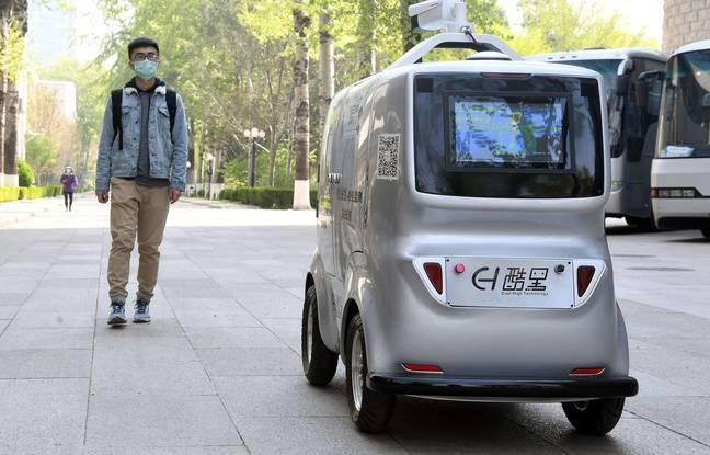 Coronavirus en Chine: Un véhicule autonome peut prendre à distance la température des passants