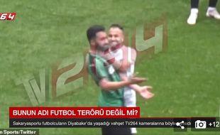 Capture d'écran d'un match de troisième division turque