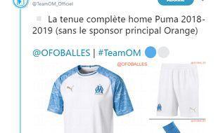 Le nouveau maillot de l'OM pour la saison 2018-2019, dessiné par Puma.