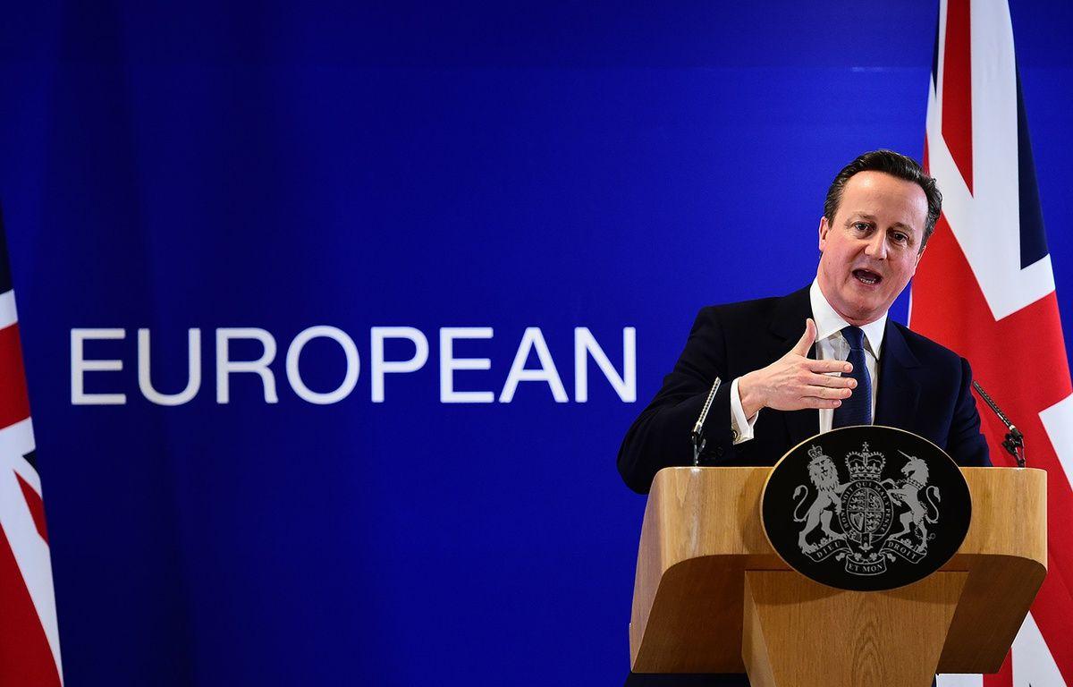 David Cameron à l'issue du sommet européen à Bruxelles, le 19 février 2016.  – EMMANUEL DUNAND / AFP