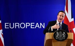 David Cameron à l'issue du sommet européen à Bruxelles, le 19 février 2016.