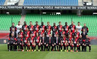 Dirigeants, staff et joueurs du Stade Rennais, lors de la traditionnelle photo de début de saison.