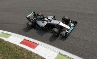Lewis Hamilton lors des qualifications du Grand Prix d'Italie le 3 septembre 2016.