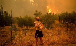 Le sinistre de l'île d'Eubée, la deuxième plus grande deGrèce, reste le plus préoccupant du pays.