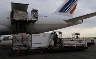 Un avion Air France à l'aéroport de Roissy à Paris.