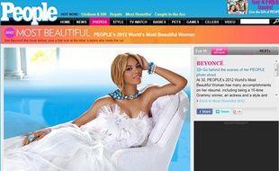Le magazine américain «People» a élu Beyoncé femme la plus belle du monde, en avril 2012.
