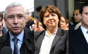 Claude Bartelone, Martine Aubry et ManuelValls.