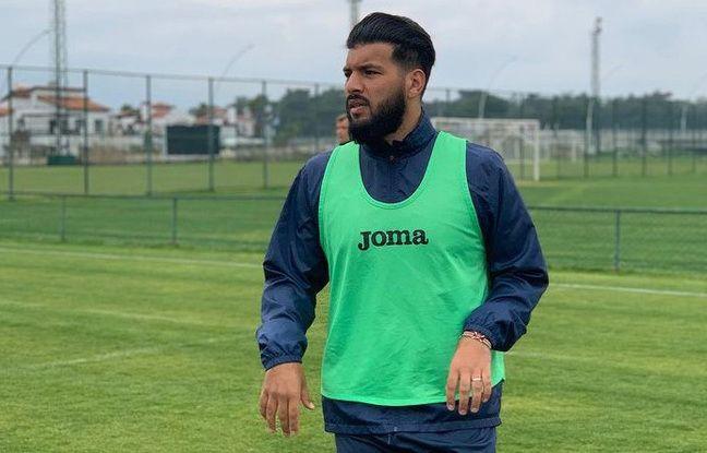 Farès Bahlouli, ici lors d'un entraînement avec son nouveau club du FC Metal Karkhiv.