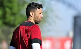 Salvatore Sirigu, lors de sa présentation au FC Séville, le 30 août 2016.