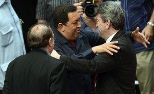 Jean-Luc Mélenchon, ici avec Hugo Chavez en