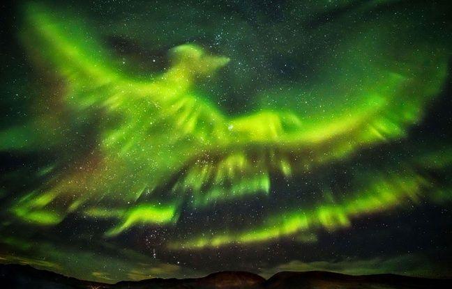 Le photographe Hallgrimur P. Helgason a immortalisé une aurore boréale en forme de Phoenix dans le ciel de Kaldársel, en Islande.