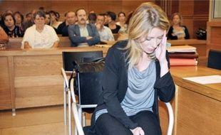 Marie-Hélène Martinez a nié avoir empoisonné ses enfants de 8 et 7 ans, hier.
