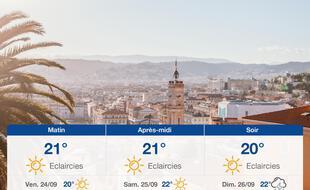 Météo Nice: Prévisions du jeudi 23 septembre 2021