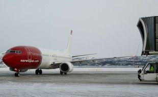 Un avion de la compagnie low-cost Norwegian sur le tarmac de l'aéroport d'Alta, en Norvège, le 7 février dernier.