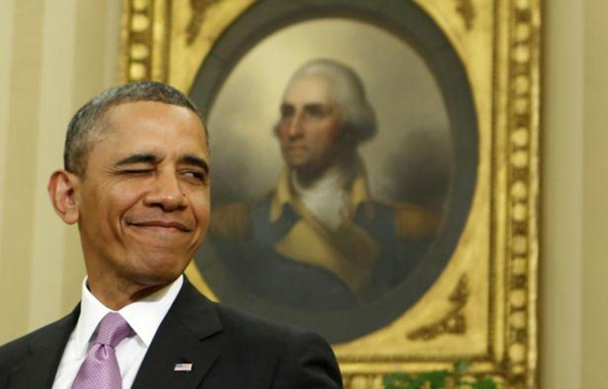 Le président américain, Barack Obama, le 23 avril 2013, à la Maison blanche, à Washington (Etats-Unis). – L.DOWNING / REUTERS
