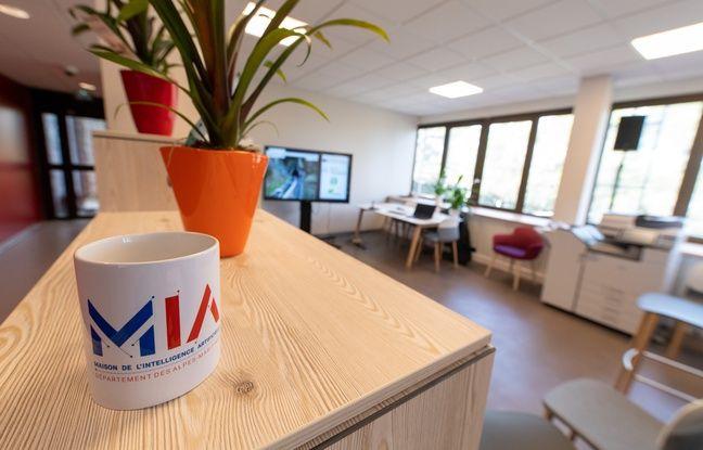 Le lab IA de la maison de l'intelligence artificielle à Sophia Antipolis, dans les Alpes-Maritimes