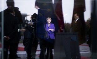 Angela Merkel à Berlin le 9 octobre 2014.
