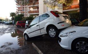 Dégâts à Mandelieu-la-Napoule (Alpes-Maritimes), après les inondations du 3 octobre 2015.