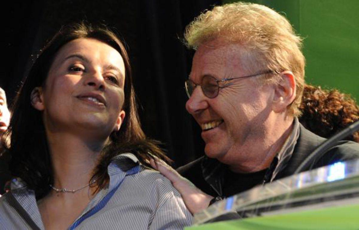 Cécile Duflot et Daniel Cohn-Bendit, le 14 mars 2010 à Paris. – B.GUAY/AFP