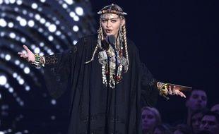 La chanteuse Madonna aux VMAs le 20 août 2018 à New York.