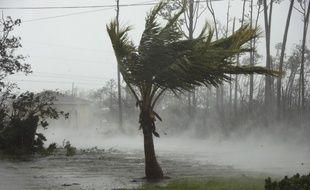 Un canal est inondé à Freeport, dans les Bahamas, pendant le passage de l'ouragan Dorian, le 2 septembre.