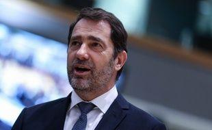Christophe Castaner, le 4 mars 2020 à Bruxelles.