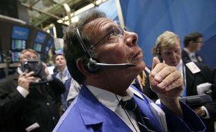 Un trader à la Bourse de New York le 1er août 2011.