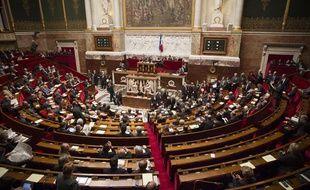 L'hémicycle de l'Assemblée Nationale lors des questions au gourvernement, le 10 avril 2013.