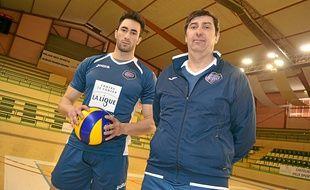 Matteo Martino, et son nouvel entraîneur, Philippe Blain.