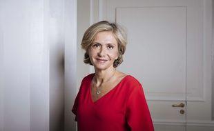 Valerie Pécresse, présidente du conseil régionale d'Ile-de-France dans son bureau du conseil régional d'Ile-de-France. Credit:Lewis JOLY/JDD/SIPA.