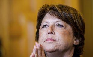 Martine Aubry, maire de Lille le 26 mars 2015 à Lille.