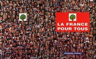 Affiche de campagne de Jacques Chirac pour la présidentielle de 1995.