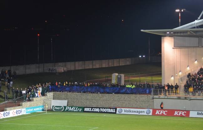Les 180 supporters de Lyon Duchère n'ont pas eu accès à une tribune de l'Envol Stadium d'Andrézieux.