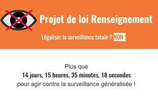 Capture d'écran de la page d'accueil du site sous-surveillance.fr.