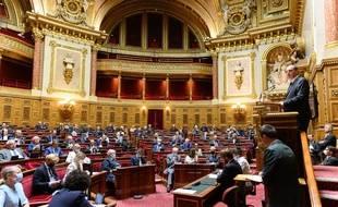 L'hémicycle du Sénat, lors de la déclaration de politique générale de Jean Castex.