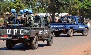 Des soldats de la Minusca à Banqui, en Centrafrique, le 2 octobre 2014.